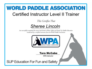 wpa instructor certificate - sheree - image