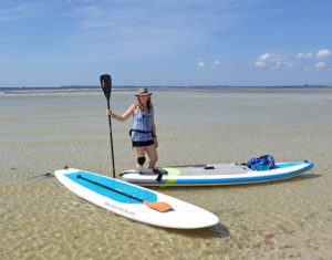 sup coach sheree lincoln on sand bar - image