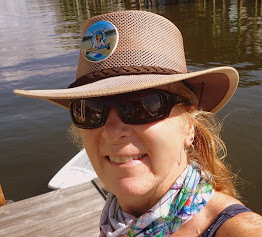 paddle boarder sheree with outback hat - image