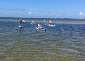 paddle boarding family - image